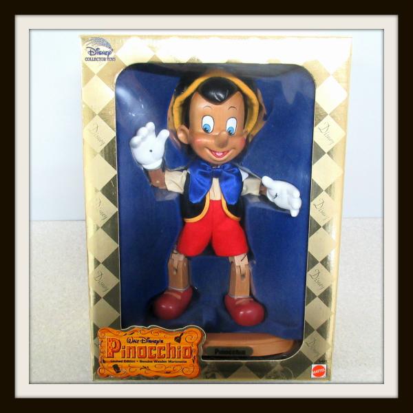 500体限定 マテル ディズニー ピノキオ 木製 マリオネット Pinocchio フィギュア