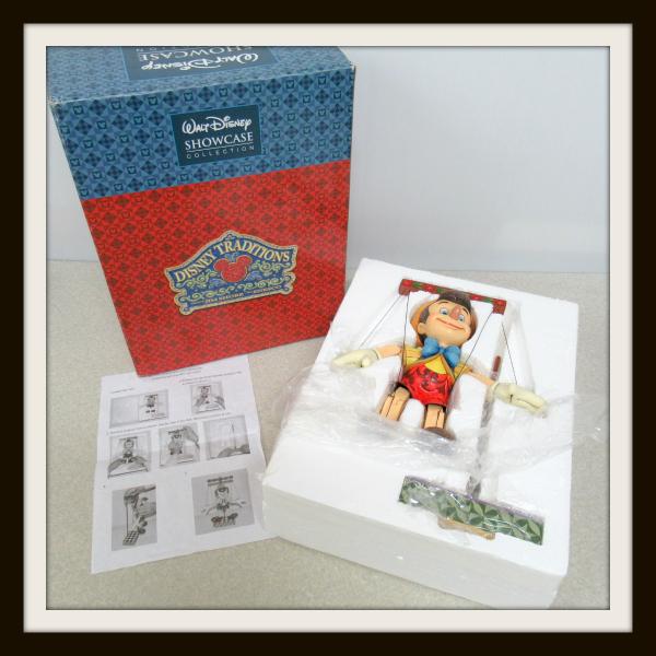ディズニートラディション ピノキオ マリオネット Pinocchio Marionette 木彫り調 フィギュア ジムショア エネスコ 70周年