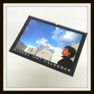 HIDEKI 1987 CALENDAR 西城秀樹カレンダー