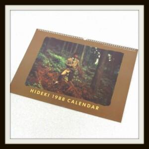 HIDEKI 1988 CALENDAR 西城秀樹カレンダー